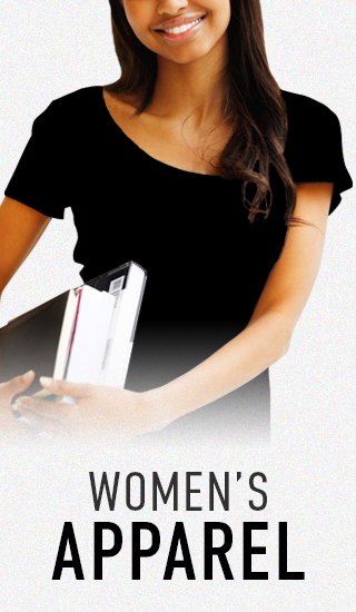 Picture of female student. Click to shop Women's Apparel.